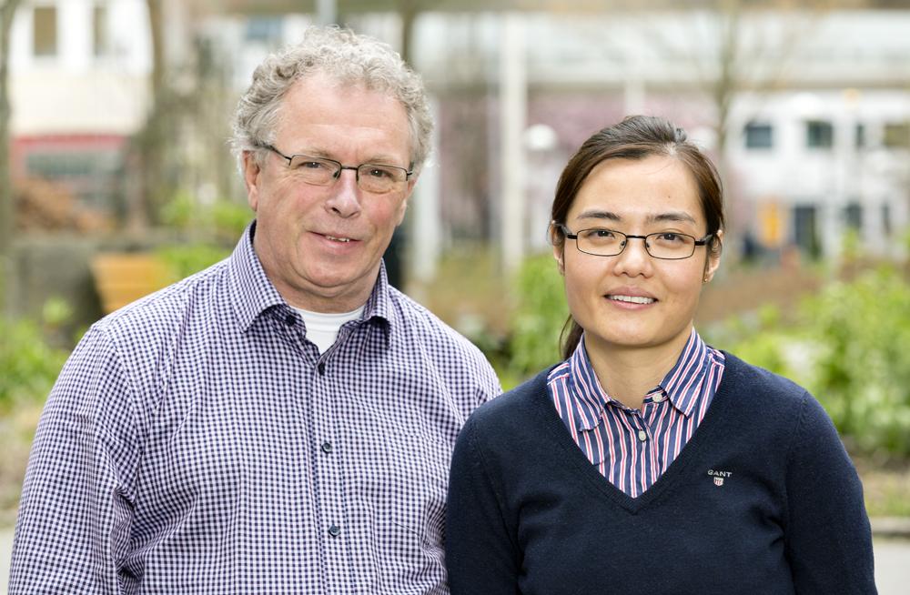 Jan Erik Collin, vd och Zhuochun Peng, vetenskaplig rådgivare vid Chundsell Medicals AB. Foto: Gonzalo Irigoyen