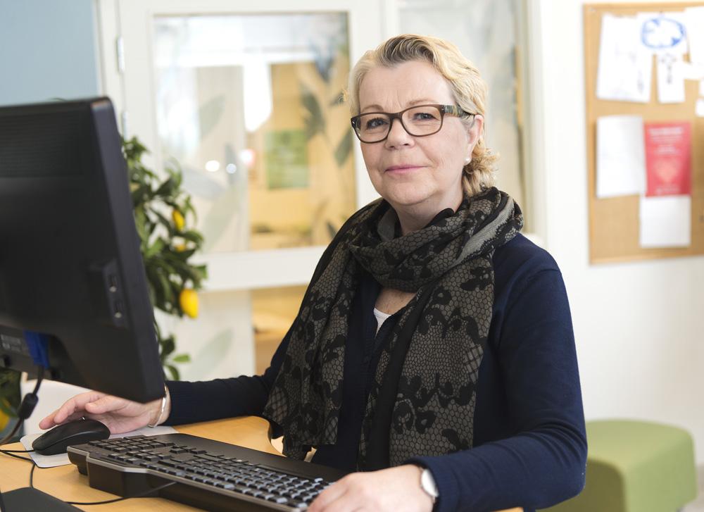 Helena Cramér, onkologisjuksköterska på Cancerrådgivningen. Foto: Håkan Flank