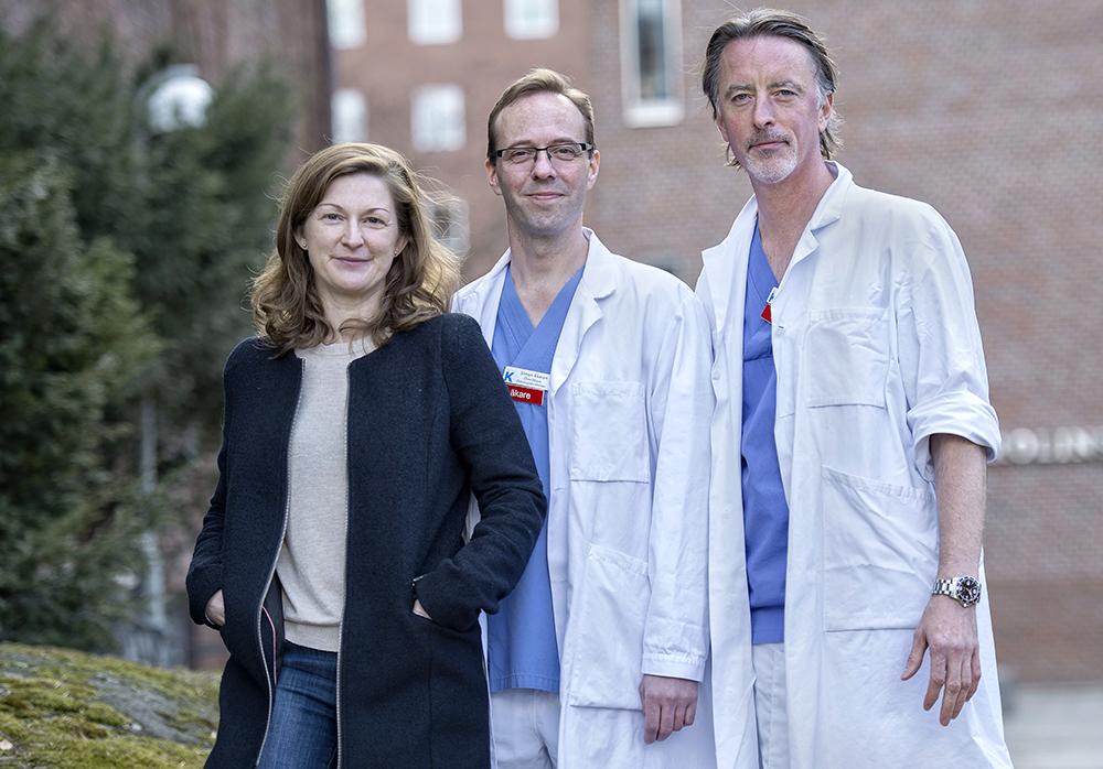 Johanna Ungerstedt, Simon Ekman och Anders Ullén har tilldelats tjänster inom den patientnära cancerforskningen.