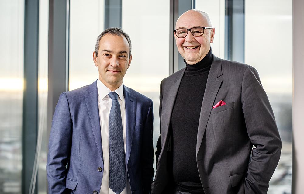 Genom att återinvestera stora delar av sin omsättning i innovation vill Celgene bidra till medicinska framsteg. Det menar vd Nicolas Verbeke och Corporate Affairs Director Björn Hellström. Foto: Robin Nilssen / BOONPHOTOGRAPHY