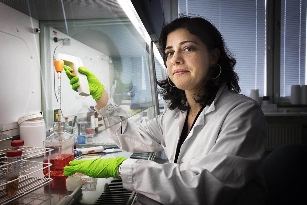 Marzia Palma, onkolog och forskare vid Karolinska Universitetssjukhuset i Solna. Foto: Johan Marklund