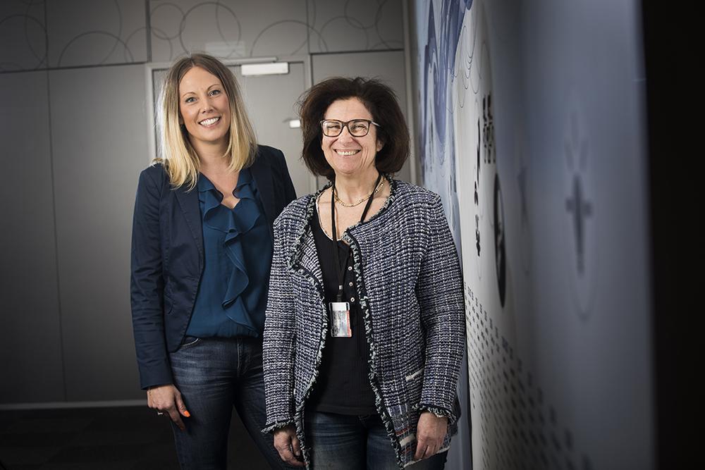 Karin Heby Henricson och Ann Atlas, vetenskapliga rådgivare på BMS. Foto: Johan Marklund