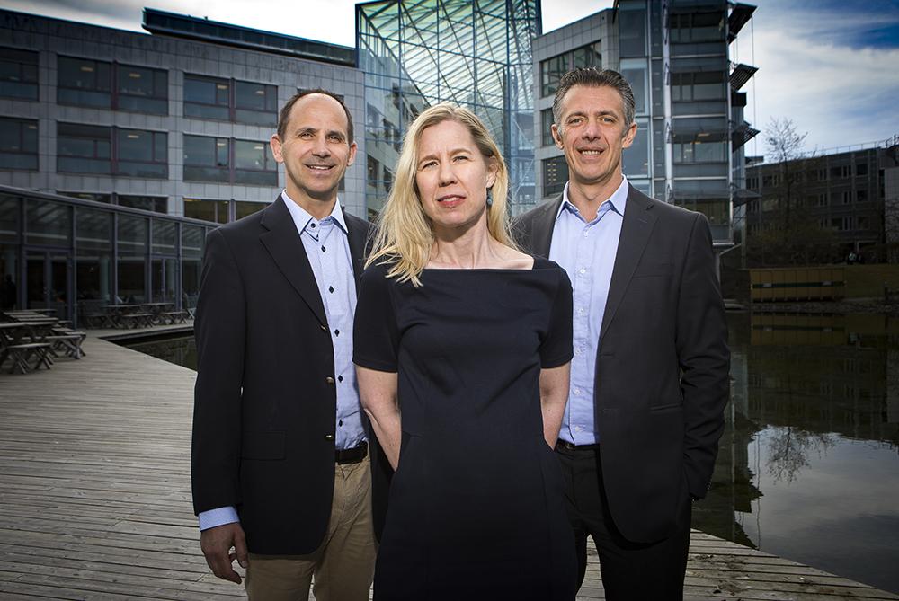 Patrik Friberg, Simone Merforth och Florent Texier. Foto: Johan Marklund