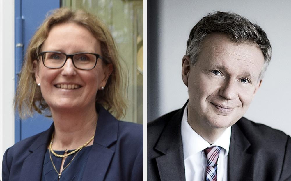 Caroline Tegner, Brand Manager Scandinavia på Bayer och Ralf Ackermann, Medicinsk chef för Bayer Scandinavia.