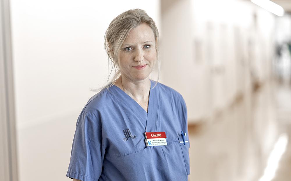 Hanna Eriksson, specialistläkare och forskare vid Karolinska Institutet.